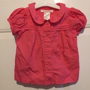 Janie and Jack Button Down Collared Blouse